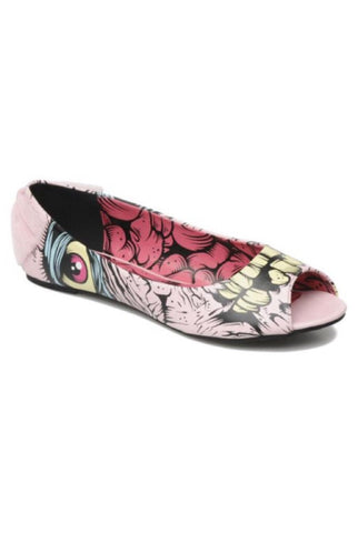 Grave dancer peep toe flat