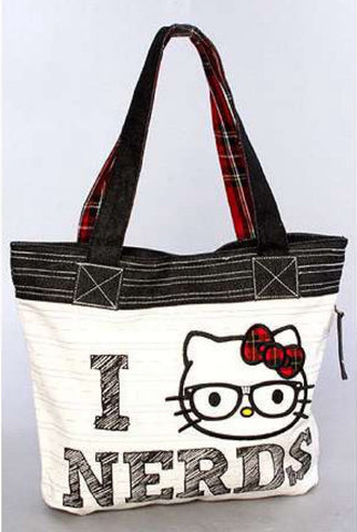 "hello kitty ""I love nerds"" tote"