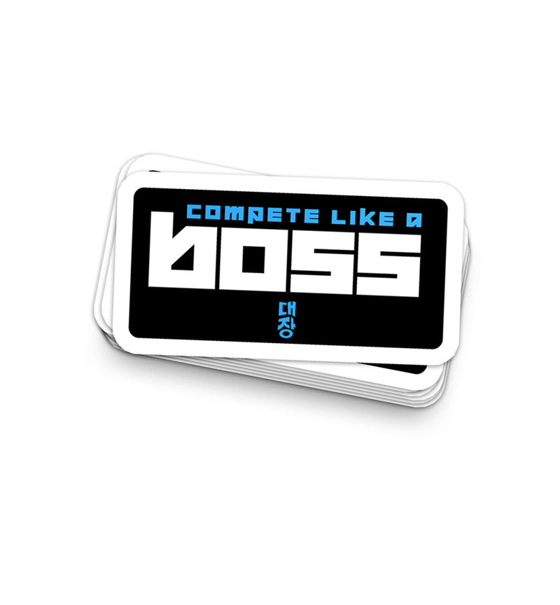 """Compete Like A Boss"" - Elijah Browning Sticker"