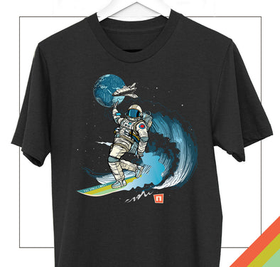 Surfing Astronaut | Space Coast | Nogginhed - NOGGINHED Tshirt Co.