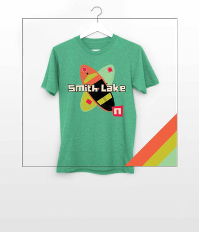 NOGGINHED Brand Smith Lake Tshirt Youth XS / Heather Green YOUTH, Smith Lake - Wake Surfing Tshirt