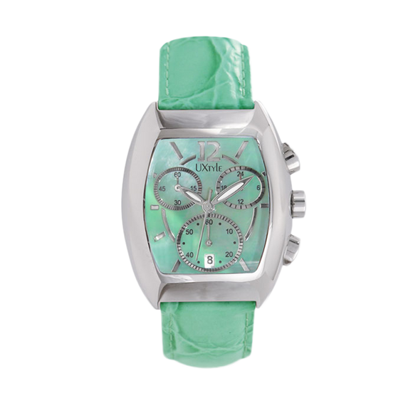 Uxtyle TM Styled Water Watch Ladies - green - front