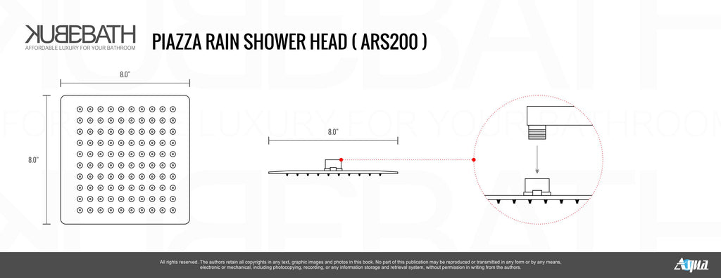 large chrome rain shower head