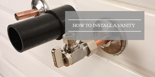 How to install a wall mounted vanity - How to install a bathroom vanity ...