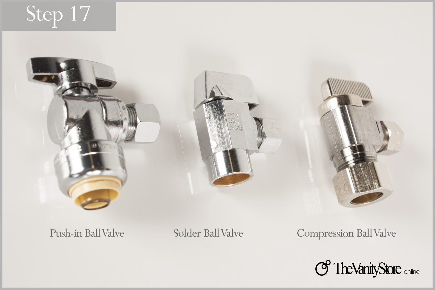 Step 17, Choose the shut-off valve right for you.