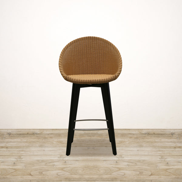 Joe Bar Stool in Natural with Black Legs