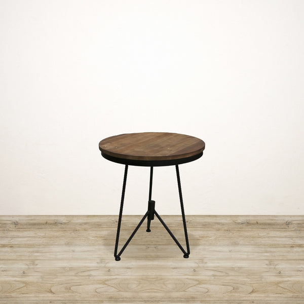 Recycled Pine Industrial Tripod Occasional Table