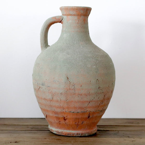 Handmade Organic Terracotta Pitcher with Mossy Detail
