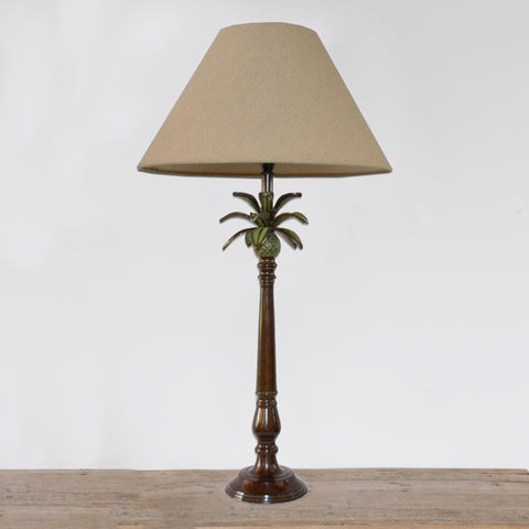 Lamp with Pineapple Leaves in Dark Bronze