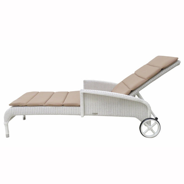 Deauville Lounger White