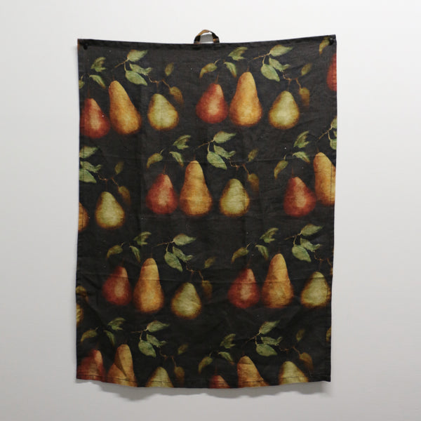 Raphael Vintaged Linen Tea Towel -  Beaucoup Poire