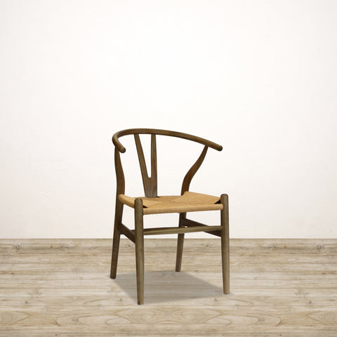 Elm Wishbone Chair in Ash Walnut Finish