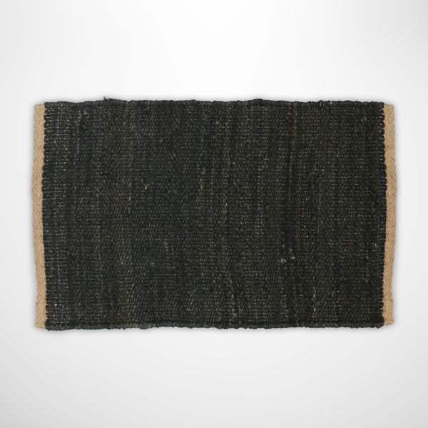 Black & Natural Jute Doormat
