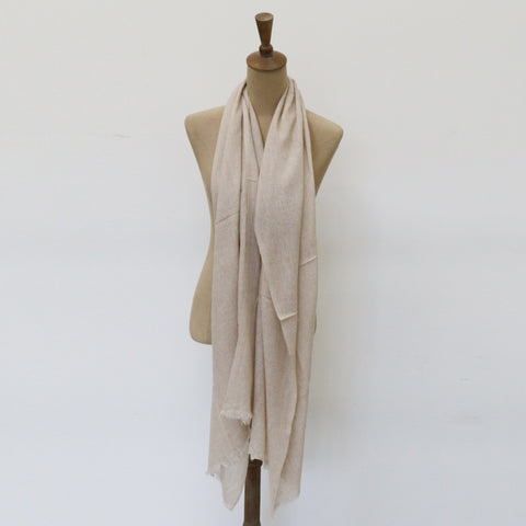 Cashmere Scarf in Sand Colour