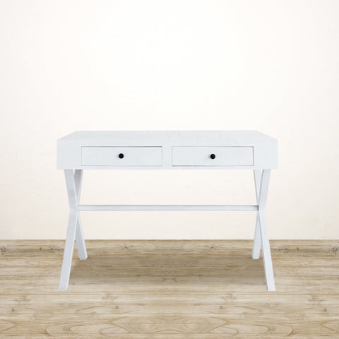 White Two Drawer Desk