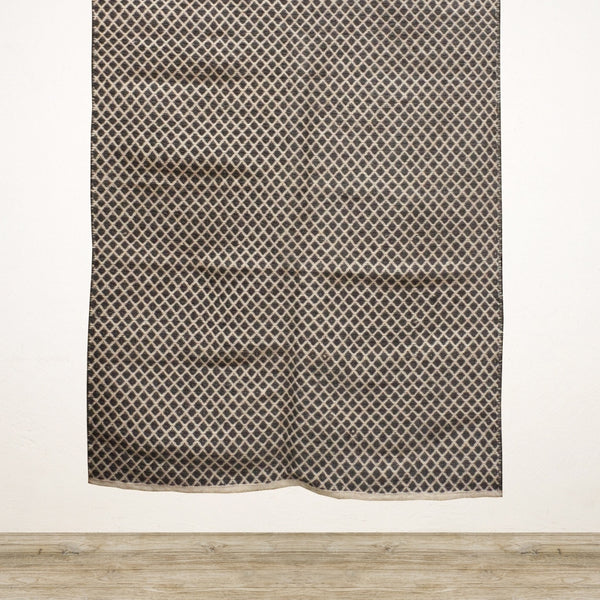 Black and Natural Diamond Pattern Rug 150 x 240