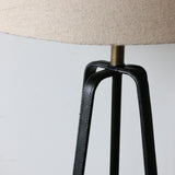 Leather Black Tripod Lamp