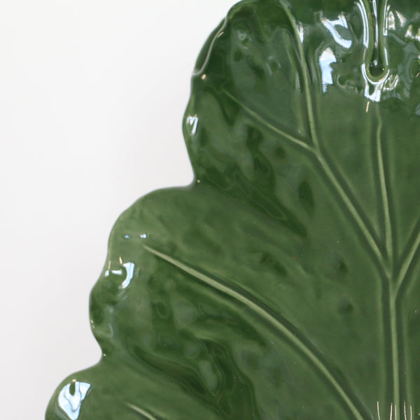 Green Vine Leaf Vase