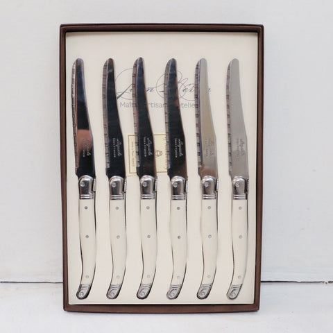 Laguiole Ivory Table Knives Set of 6