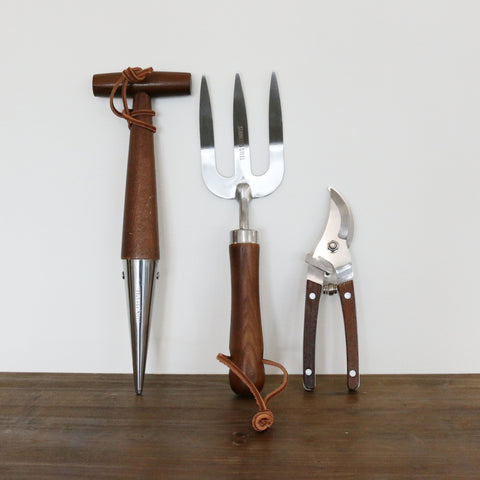 Garden Tool Set - 3 Pieces with Wooden Handles