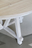 Normanby White Washed Round Dining Table