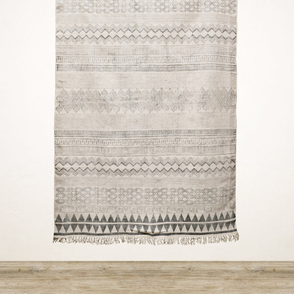 Indie Cotton Rug in Black and Cream