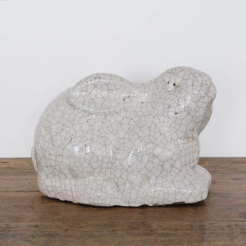 Chalk White  Ceramic Sitting Rabbit