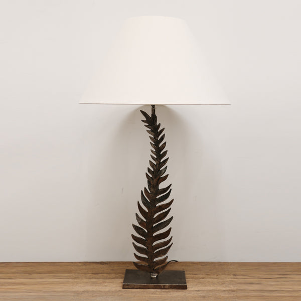 Fern Lamp in Distressed Gold Finish