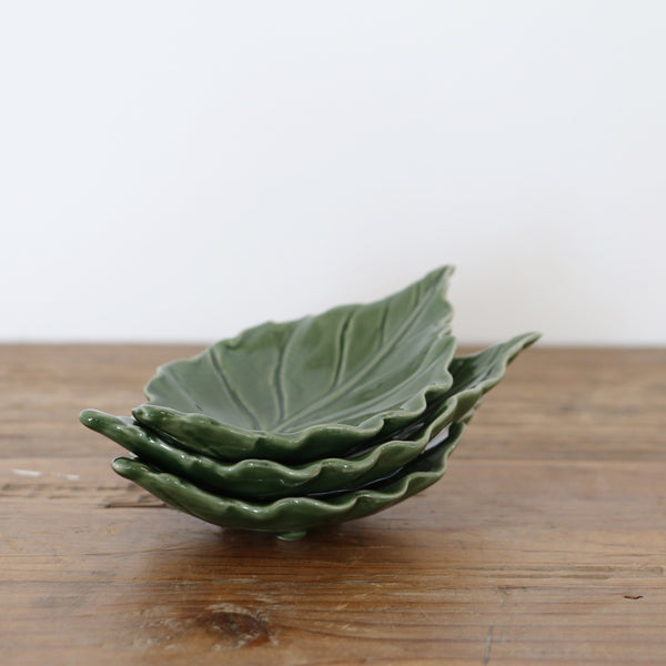 Green Vine Leaf Dish Small