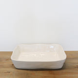 Costa Nova White Small Rectangular Baker 25cm