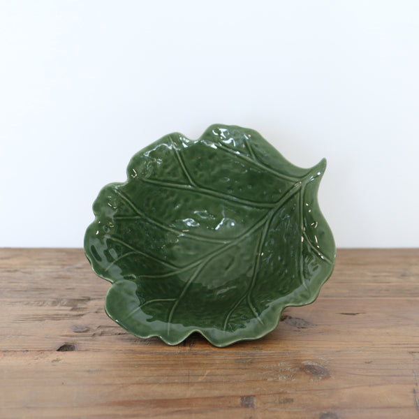 Green Vine Leaf Bowl