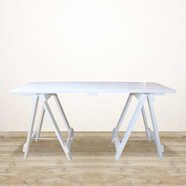 Trestle Desk in White