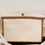 French Leather Manhattan Bag in Ivory
