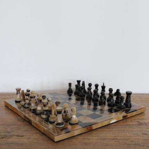 Handmade Horn Chess Set