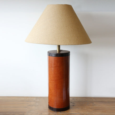 Tan Leather Lamp
