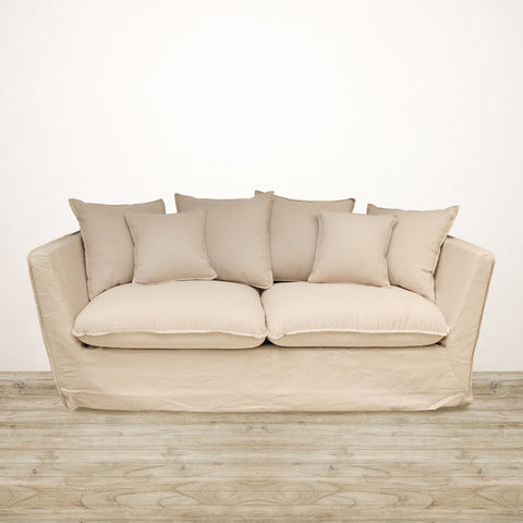 Hampton Couch in Natural Linen
