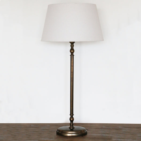 Oval Lamp Base in Antique Brass Finish