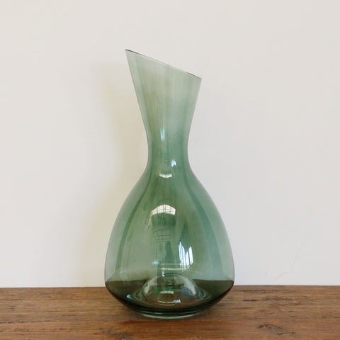 Fino Verde Hand-blown Glass Wine Decanter