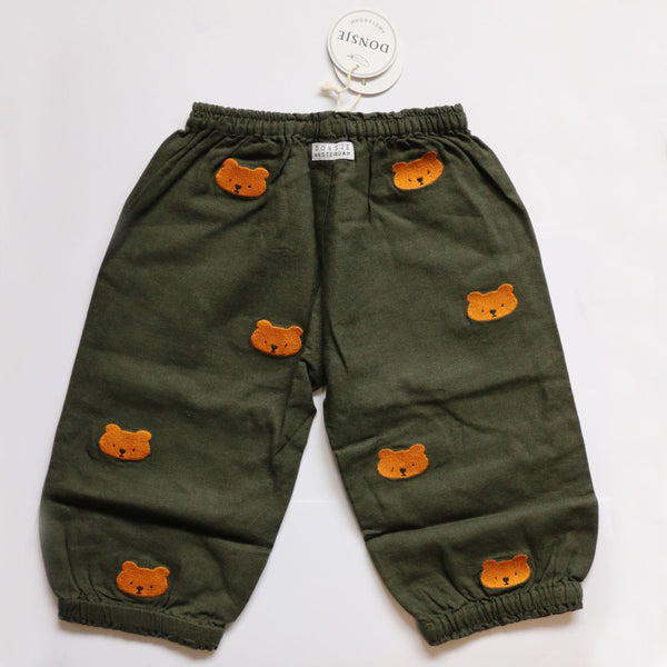 Donsje Billy Bear Trousers in Olive Green