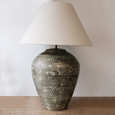 Urn Lamp in Verdigris Antique Finish