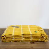 Wool Throw in Yellow Mustard Check
