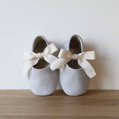 Baby Lolitas in Grey Suede Leather