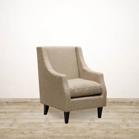 Milano Arm Chair in Flax Weave