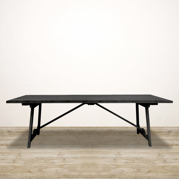 Loire Black Trestle Dining Table
