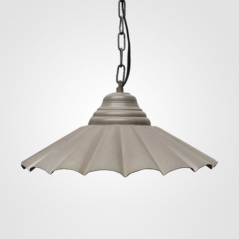 Fluted Grey Hanging Light