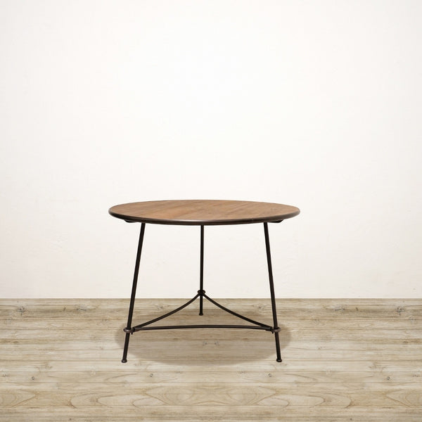 Large Recycled Pine and Metal Industrial Occasional Table