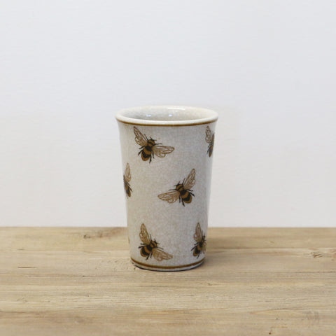 Bee Crackled Cup