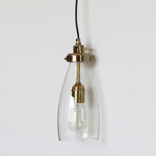 Lucci Handblown Glass & Brass Pendant Light