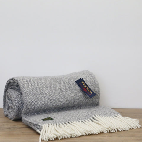 Wool Illusions Throw in Grey Marle