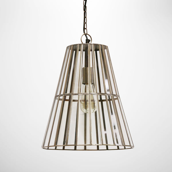 Italia Brass & Glass Hanging Light